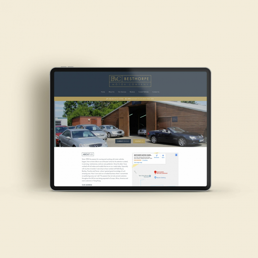 Charly Anderson | Besthorpe Motor Company - Bespoke Wordpress Development