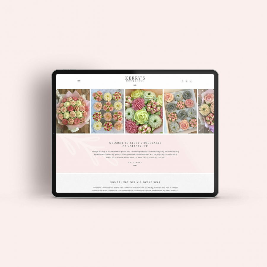 Charly Anderson | Kerry's Bouqcakes - Bespoke Wordpress Development