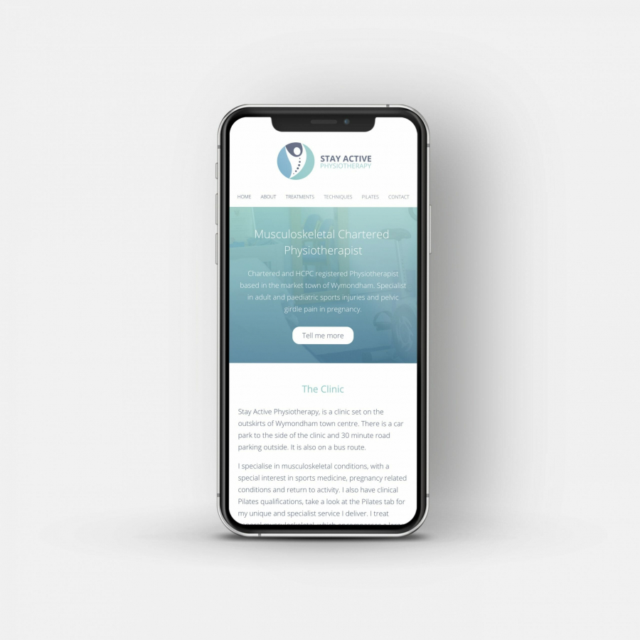 Charly Anderson | Stay Active Physiotherapy - Bespoke Wordpress Development
